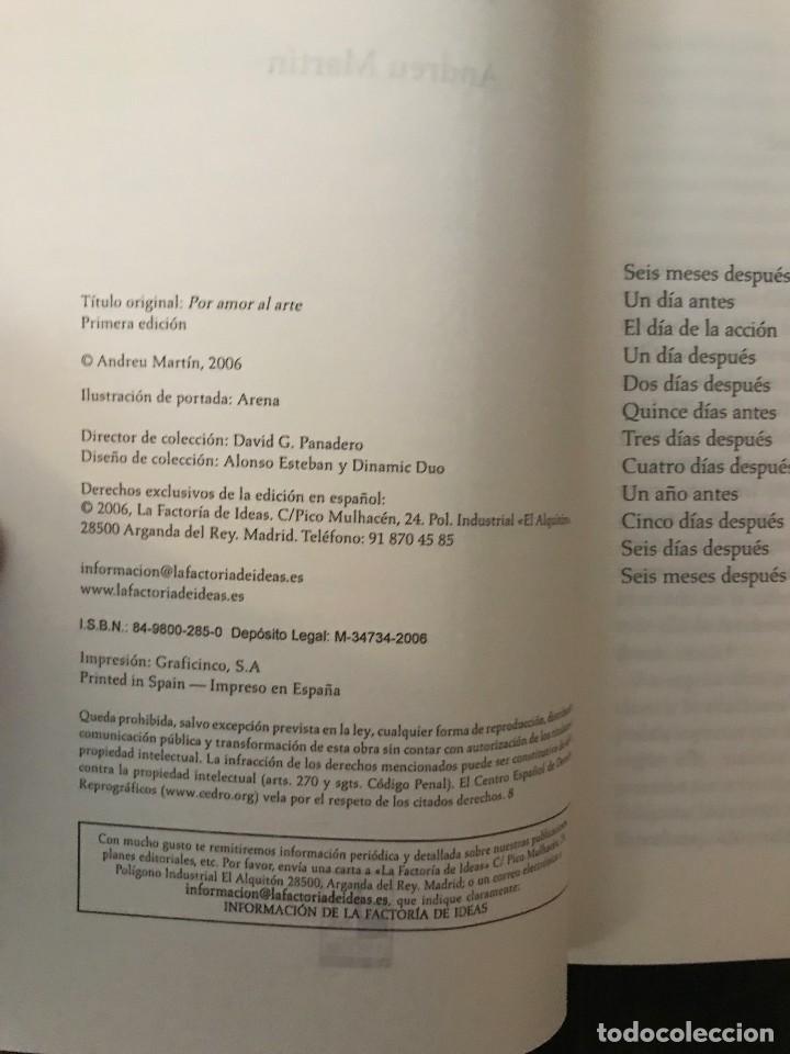 Libros de segunda mano: Por amor al arte. Andreu Martín. Ed. La factoría de ideas. - Foto 3 - 114984659