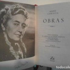 Libros de segunda mano: OBRAS DE AGATHA CHRISTIE. TOMO I 1 Y 2 II. EDITORIAL AGUILAR. Lote 115213422