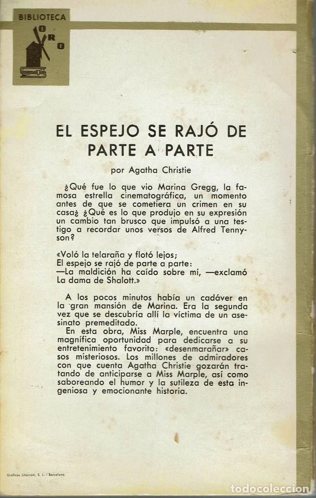 Libros de segunda mano: EL ESPEJO SE RAJÓ DE PARTE A PARTE, POR AGATHA CHRISTIE. AÑO 1963 (14.2) - Foto 2 - 115283291