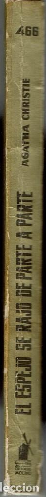 Libros de segunda mano: EL ESPEJO SE RAJÓ DE PARTE A PARTE, POR AGATHA CHRISTIE. AÑO 1963 (14.2) - Foto 3 - 115283291