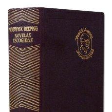 Libros de segunda mano: DEEPING (GEORGE WARWICK). NOVELAS ESCOGIDAS. MADRID, AGUILAR, COL. JOYA, 1964. ENC. EN PIEL. Lote 115595162