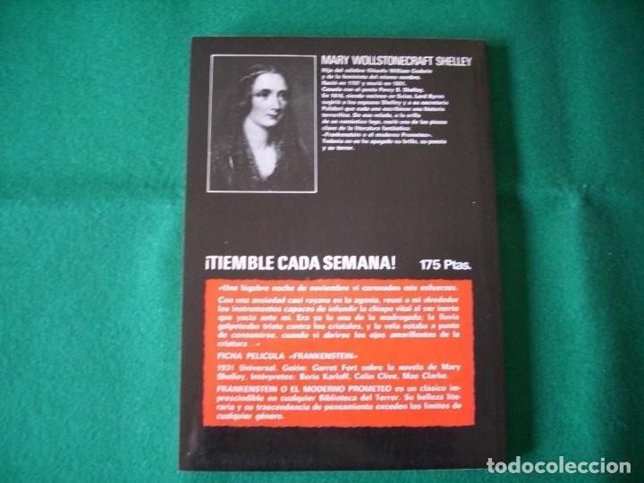 Libros de segunda mano: BIBLIOTECA DEL TERROR - FRANKENSTEIN - MARY SHELLEY - EDICIONES FORUM Nº 2 - AÑO 1983 - Foto 3 - 119865975
