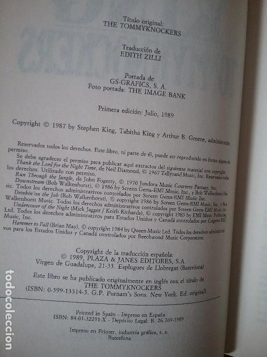 Libros de segunda mano: Lotazo Stephen King: It + Apocalipsis + Rabia + Tommyknockers - Foto 3 - 120635847