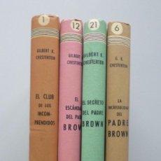 Libros de segunda mano: LOTE LIBROS G.K. CHESTERTON // COLECCIÓN SEIS DELFINES // EDITORIAL TARTESSOS. Lote 122201315