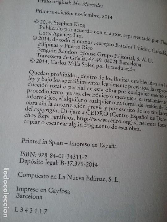 Libros de segunda mano: Mr Mercedes, de Stephen King 1a edición. Tapa dura y sobrecubierta. Plaza y Janes, nov 1994. - Foto 6 - 122983751