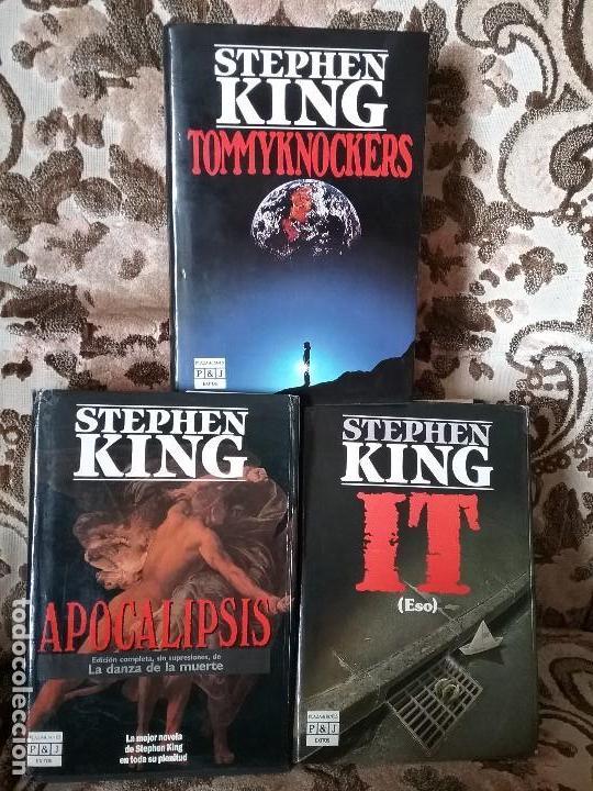 LOTAZO STEPHEN KING: APOCALIPSIS + IT + TOMMYKNOCKERS. TAPA DURA Y SOBRECUBIERTA. (Libros de segunda mano (posteriores a 1936) - Literatura - Narrativa - Terror, Misterio y Policíaco)