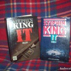 Libros de segunda mano: LOTE PRIMERAS EDICIONES DE IT ( ESO ) DE STEPHEN KING. PLAZA & JANÉS - CÍRCULO DE LECTORES. 1987.. Lote 125104747