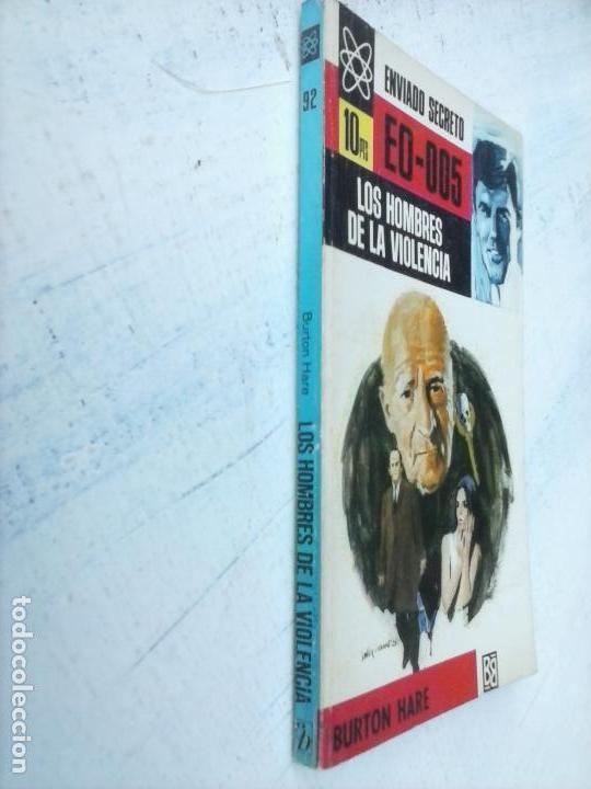 Libros de segunda mano: ENVIADO SECRETO Nº 92 - BURTON HARE - LOS HOMBRES DE LA VIOLENCIA - VER FOTOS - 1969 BRUGUERA - Foto 2 - 128183619