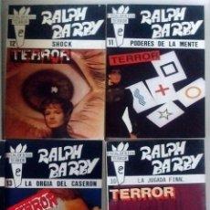 Libros de segunda mano: 6 NOVELAS RALPH BARBY ESCALOFRÍOS DE TERROR Nº 5-7-10-11-12-13- NUEVAS 1988. Lote 128284267