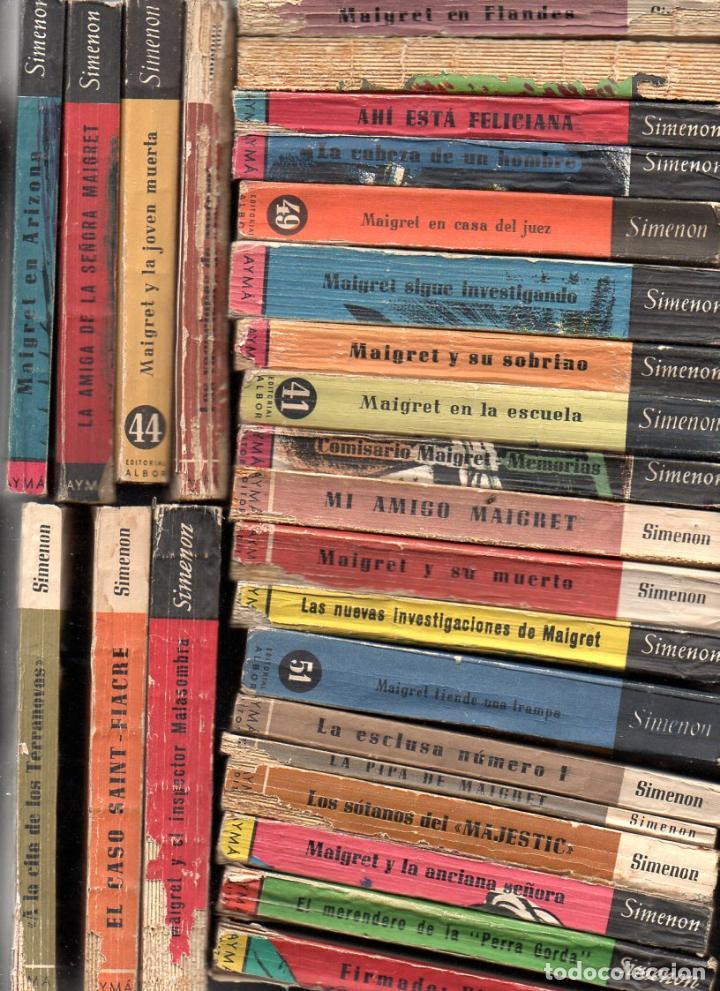 SIMENON : 26 NOVELAS DE MAIGRET AÑOS '50 COLECCION ALBOR - VER IMÁGENES. (Libros de segunda mano (posteriores a 1936) - Literatura - Narrativa - Terror, Misterio y Policíaco)