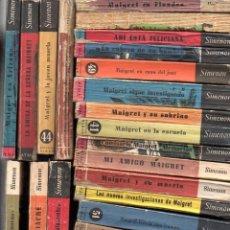 Libros de segunda mano: SIMENON : 26 NOVELAS DE MAIGRET AÑOS '50 COLECCION ALBOR - VER IMÁGENES.. Lote 128448275