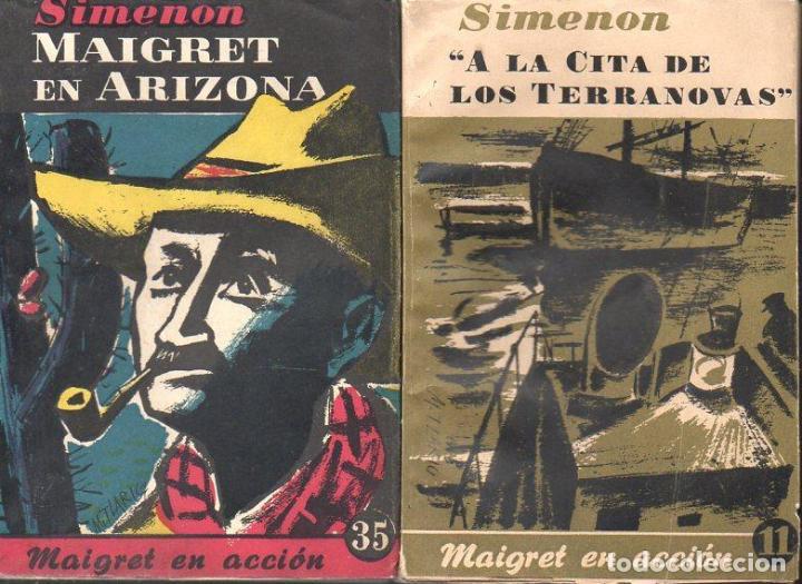 Libros de segunda mano: SIMENON : 26 NOVELAS DE MAIGRET AÑOS 50 COLECCION ALBOR - VER IMÁGENES. - Foto 2 - 128448275
