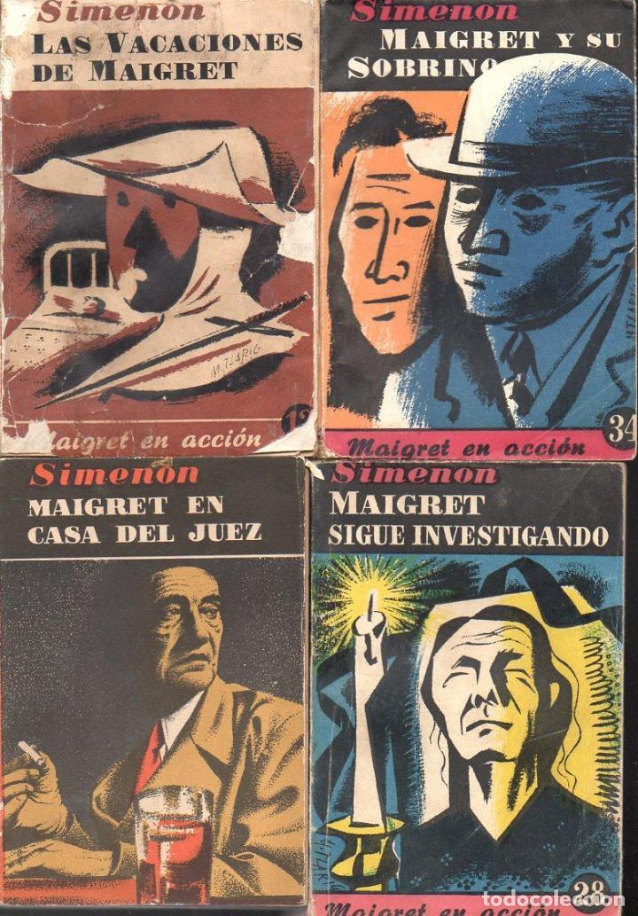 Libros de segunda mano: SIMENON : 26 NOVELAS DE MAIGRET AÑOS 50 COLECCION ALBOR - VER IMÁGENES. - Foto 3 - 128448275