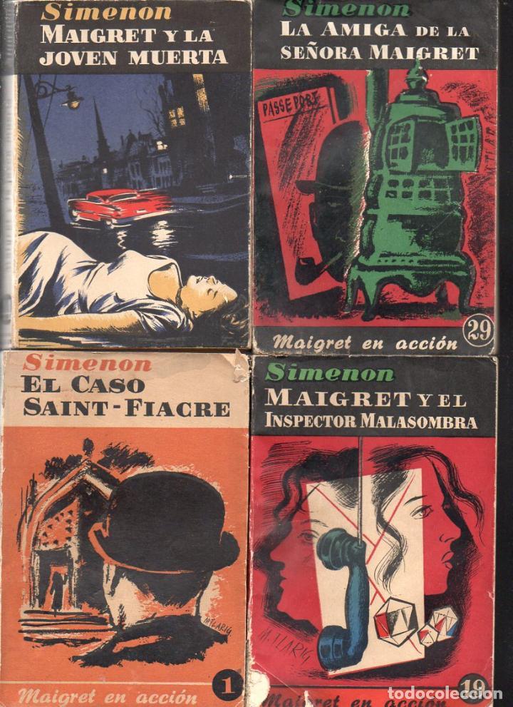 Libros de segunda mano: SIMENON : 26 NOVELAS DE MAIGRET AÑOS 50 COLECCION ALBOR - VER IMÁGENES. - Foto 4 - 128448275