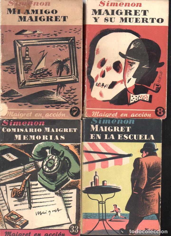 Libros de segunda mano: SIMENON : 26 NOVELAS DE MAIGRET AÑOS 50 COLECCION ALBOR - VER IMÁGENES. - Foto 5 - 128448275