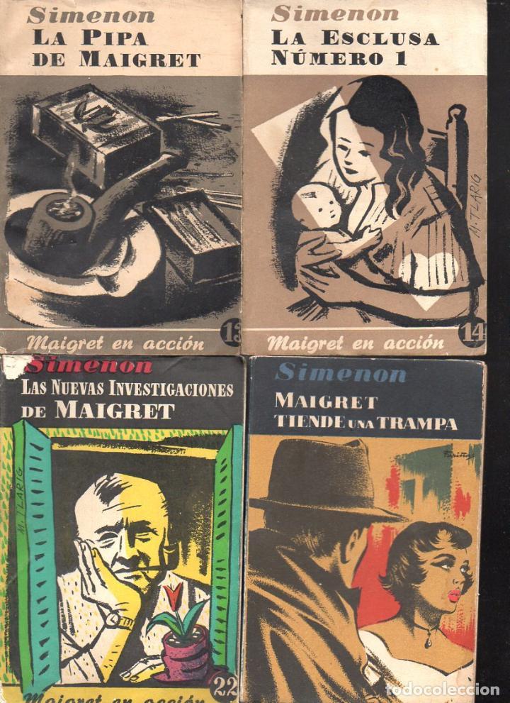 Libros de segunda mano: SIMENON : 26 NOVELAS DE MAIGRET AÑOS 50 COLECCION ALBOR - VER IMÁGENES. - Foto 6 - 128448275