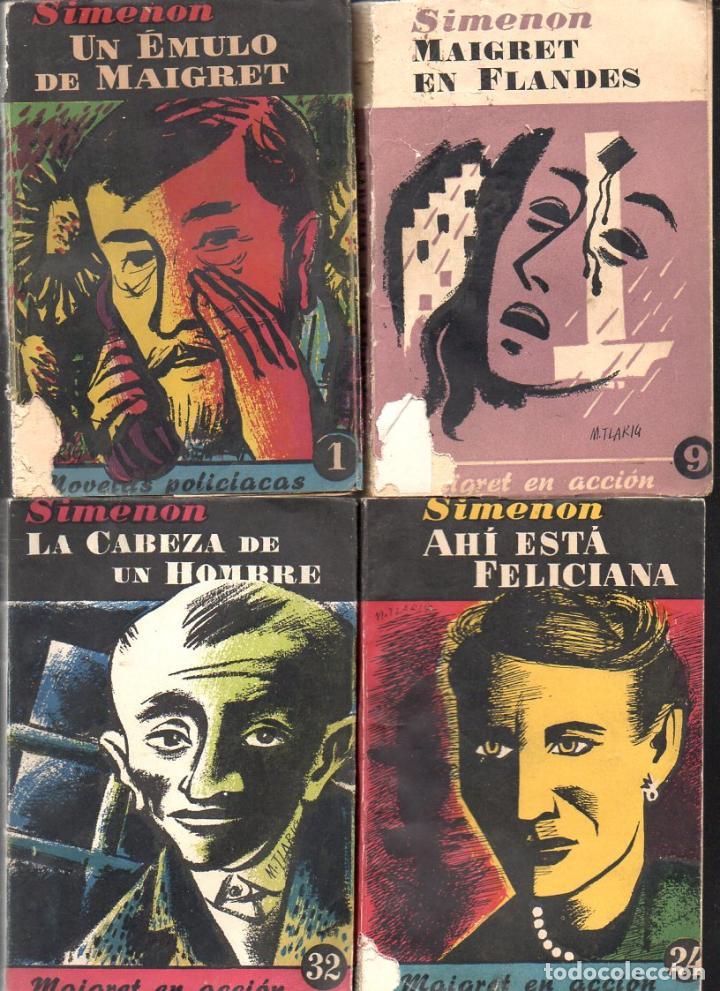 Libros de segunda mano: SIMENON : 26 NOVELAS DE MAIGRET AÑOS 50 COLECCION ALBOR - VER IMÁGENES. - Foto 7 - 128448275