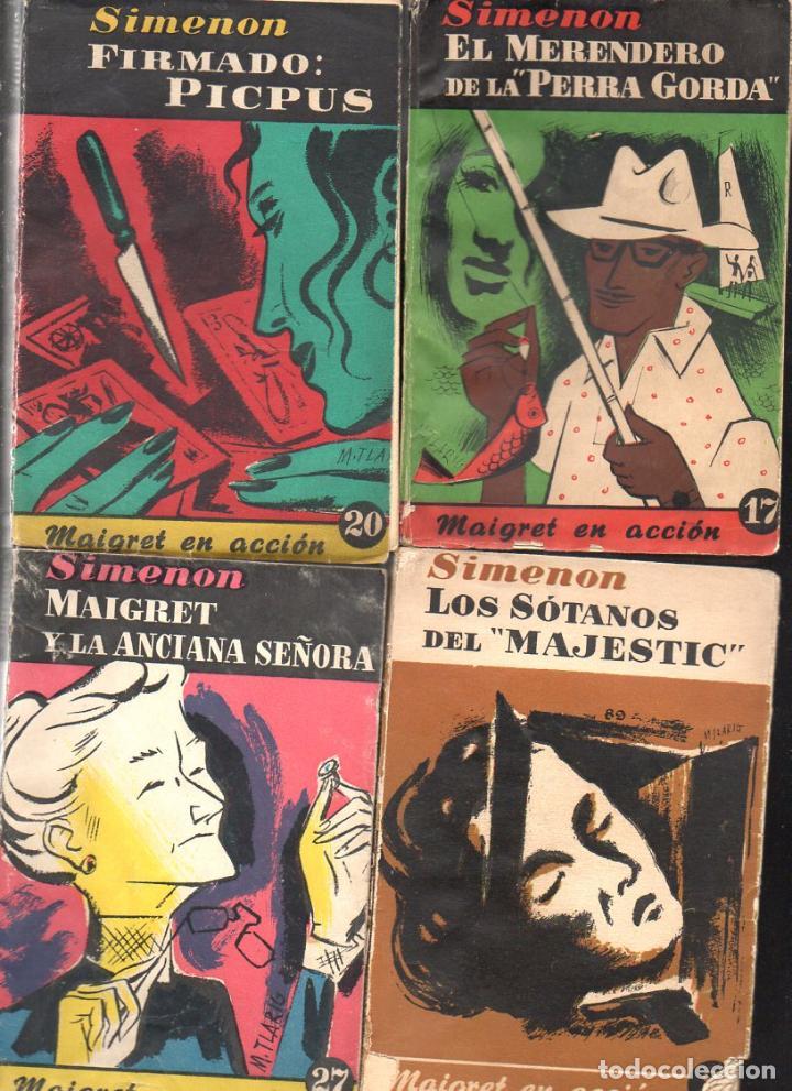 Libros de segunda mano: SIMENON : 26 NOVELAS DE MAIGRET AÑOS 50 COLECCION ALBOR - VER IMÁGENES. - Foto 8 - 128448275