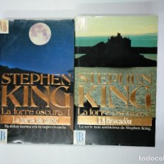 Libros de segunda mano: LA TORRE OSCURA. TOMO 1 Y 2. LA INVOCACION + LA HIERBA DEL DIABLO. STEPHEN KING. TDK350. Lote 128611103