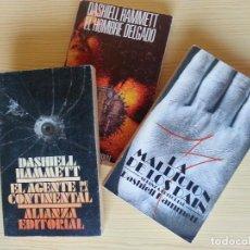 Libros de segunda mano: LOTE DASHIELL HAMMETT (ALIANZA): AGENTE DE LA CONTINENTAL, MALDICIÓN DE LOS DAIN, HOMBRE DELGADO. Lote 128669799