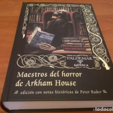 Libros de segunda mano: MAESTROS DEL HORROR DE ARKHAM HOUSE VALDEMAR GOTICA. Lote 128991587