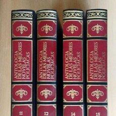 Libros de segunda mano: COLECCIÓN 4 LIBROS ANTOLOGIA DE LAS MEJORES NOVELAS POLICIACAS. Lote 129657723