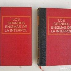 Libros de segunda mano: LOS GRANDES ENIGMAS DE LA INTERPOL - 2 TOMOS - CÍRCULO DE AMIGOS DE LA HISTORIA - AÑO 1970.. Lote 133294746