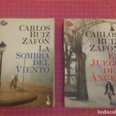 Libros de segunda mano: LA SOMBRA DEL VIENTO - EL JUEGO DEL ÁNGEL - ZAFÓN - TAPA BLANDA. Lote 136468866