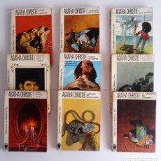 Libros de segunda mano: LOTE DE 9 LIBROS DE AGATHA CHRISTIE - EDITORIAL MOLINO ANTIGUOS. Lote 241668005