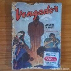 Libros de segunda mano: HOMBRES AUDACES 190 EL VENGADOR 4 LENGUA DE FUEGO, KENNETH ROBESON. EDITORIAL MOLINO. Lote 137885594