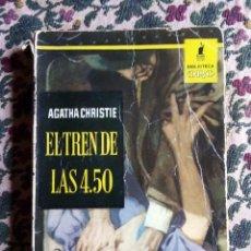 Libros de segunda mano: EL TREN DE LAS 4.50 POR AGATHA CHRISTIE EDITORIAL MOLINO. 1.958 BIBLIOTECA ORO.. Lote 139718146