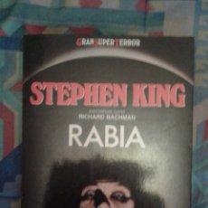 Libros de segunda mano: RABIA: STEPHEN KING: ESCRIBIENDO COMO RICHARD BACHMAN: GRAN SUPER TERROR: MARTÍNEZ ROCA: MUY DIFICIL. Lote 140003161