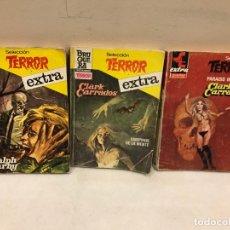 Libros de segunda mano: LOTE DE 3 NOVELAS DE TERROR - BRUGUERA - 7 FOTOS. Lote 140339062