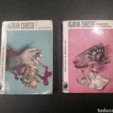 Libros de segunda mano: LOTE 2 LIBROS AGATHA CHRISTIE BIBLIOTECA DE ORO CIANURO ESPUMOSO Y LOS RELOJES. Lote 148384281