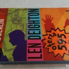 Libros de segunda mano: EL JUEGO DE BERLIN-LEN DEIGHTON- BOOKET. Lote 170915290