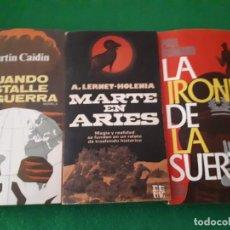 Libros de segunda mano: LIBROS CUANDO ESTALLE LA GUERRA, MARTE EN ARIES Y LA IRONIA DE LA SUERTE. Lote 144997658