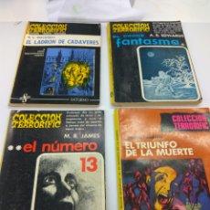 Libros de segunda mano: COLECCIÓN TERRORIFIC LOTE 4 NUM. 4-5-8-11. EDICIONES SATURNO. Lote 146410181