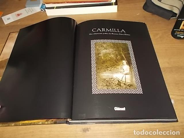 Libros de segunda mano: CARMILLA. UNA ADAPTACIÓN GRÁFICA DE GUSTAVO LÓPEZ MAÑAS. GLÉNAT. 1ª EDICIÓN 2008. VER FOTOS. - Foto 4 - 147575994