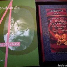 Gebrauchte Bücher - Lote: El nombre de la rosa y Apostillas a El nombre de la rosa. Umberto Eco - 148401341