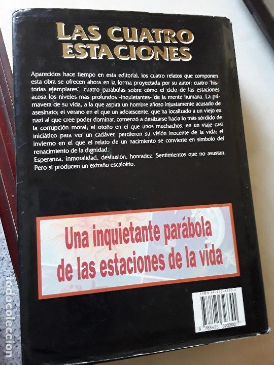 Libros de segunda mano: Las cuatro estaciones, de Stephen King (ed. íntegra). Grijalbo, 1993. Tapa dura y sobrecubierta. - Foto 3 - 136644530