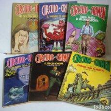 Libros de segunda mano: NOVELAS DEL CIRCULO DEL CRIMEN LOTE DE 6 NOVELAS LOTE- Nº-1 (#). Lote 150683010