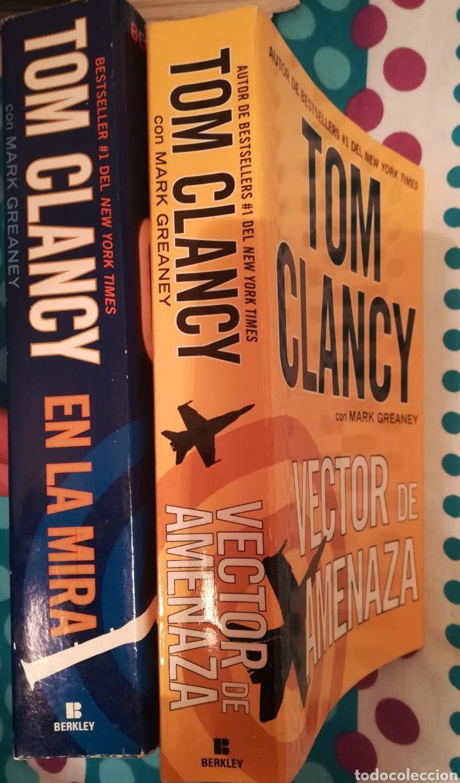 DOS LIBROS DE TOM CLANCY CON MARK GREANEY EN LA MIRA Y VECTOR DE AMENAZA. CON 948+837 PÁGINAS (Libros de segunda mano (posteriores a 1936) - Literatura - Narrativa - Terror, Misterio y Policíaco)