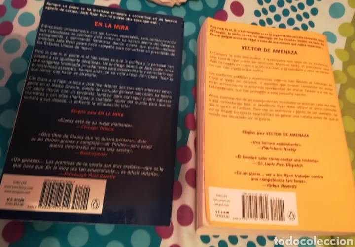 Libros de segunda mano: Dos libros de Tom Clancy con Mark Greaney En la mira y Vector de amenaza. Con 948+837 páginas - Foto 2 - 150825692