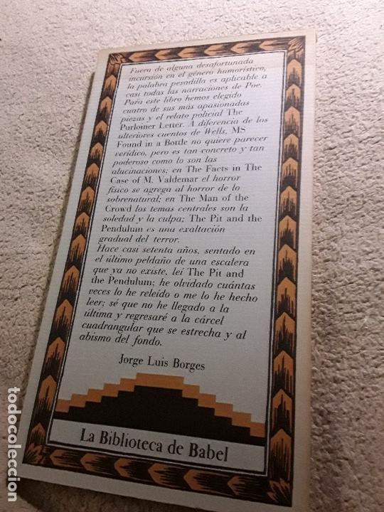 Libros de segunda mano: La carta robada, de Poe. Excelente estado. Siruela, La biblioteca de Babel. - Foto 2 - 157467566