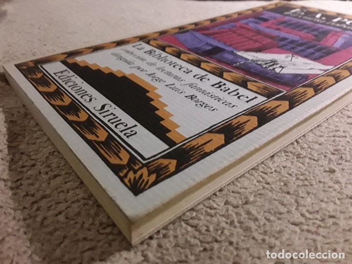 Libros de segunda mano: La carta robada, de Poe. Excelente estado. Siruela, La biblioteca de Babel. - Foto 3 - 157467566