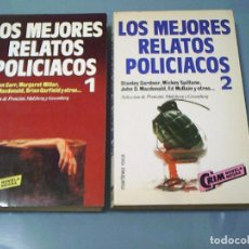 Libros de segunda mano: LOS MEJORES RELATOS POLICIACOS 1 Y 2.. Lote 159790402