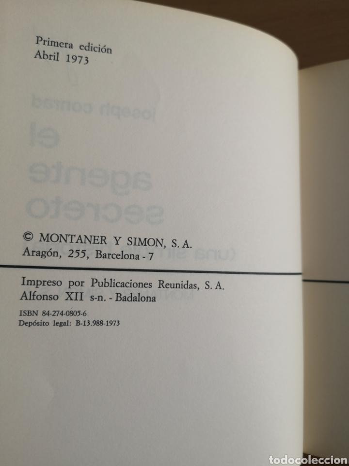 Libros de segunda mano: JOSEPH CONRAD - EL AGENTE SECRETO - MONTANER Y SIMON - PRIMERA EDICIÓN - 1973 - Foto 2 - 160032188