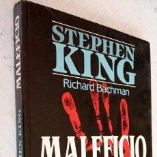 Libros de segunda mano: MALEFICIO - STEPHEN KING - PLAZA JANES 1ª EDICIÓN NOVIEMBRE 1986 - 256 PGS.. Lote 160043654