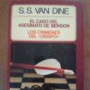 Libros de segunda mano: EL CASO DEL ASESINATO DE BENSON (S. S. VAN DINE) CIRCULO DE LECTORES - CARTONE - BUEN ESTADO. Lote 160996530