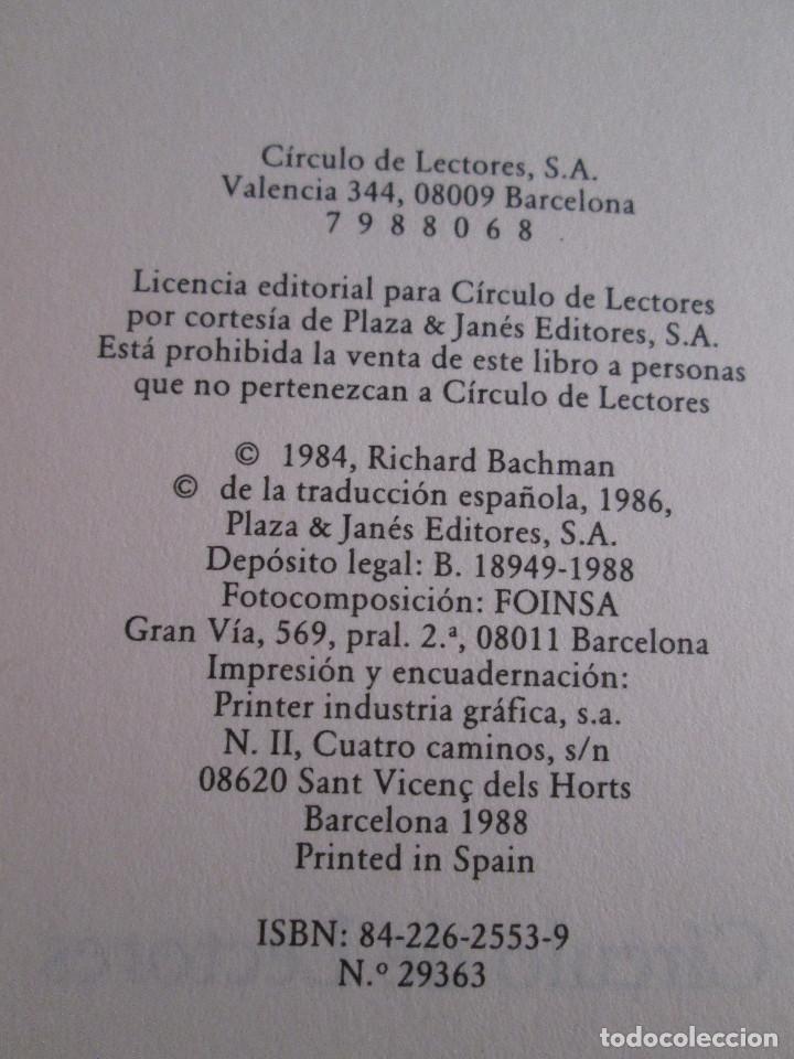 Libros de segunda mano: STEPHEN KING - MALEFICIO - 1986 - 294 PAGINAS - CIRCULO DE LECTORES - TAPAS DURAS CON SOBRECUBIERTA - Foto 2 - 162102218